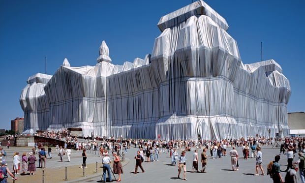 In 1995 Christo and Jeanne-Claude's Wrapped Reichstag covered the German parliament building in Berlin in aluminium fabric