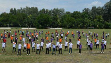 """Photo of Активистите на коалицијата """"Сега е време"""" со спортска активност во паркот """"Сарај"""""""