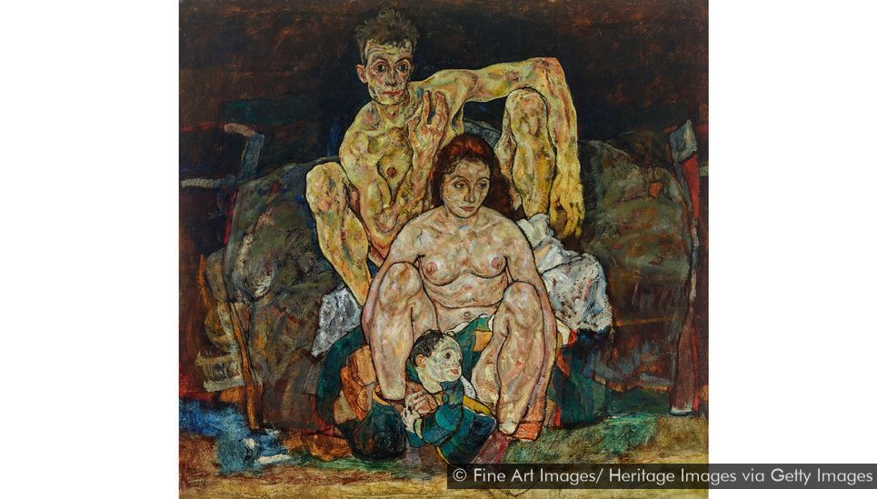 Egon Schiele's The Family, 1918, is full of anguish (Credit: Fine Art Images/ Heritage Images via Getty Images)