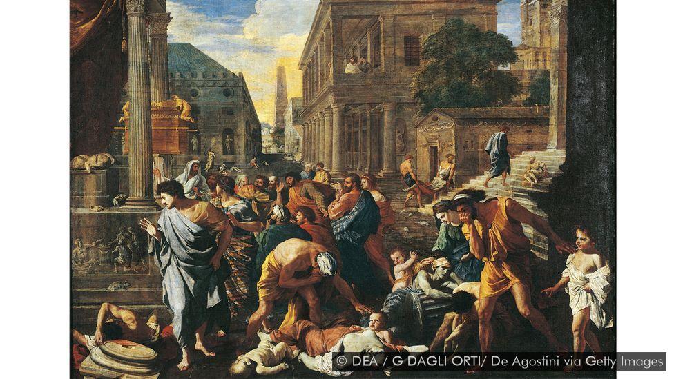 Poussin painted The Plague of Ashdod in 1630-31 (Credit: DEA / G DAGLI ORTI/ De Agostini via Getty Images)