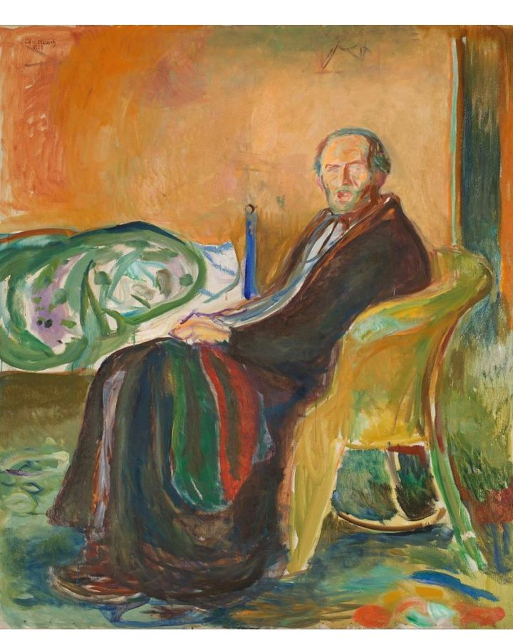 Edvard Munch's Self-portrait with Spanish Flu (1919) expresses the artist's own pain (Credit: Nasjonalmuseet/ Lathion, Jacques)
