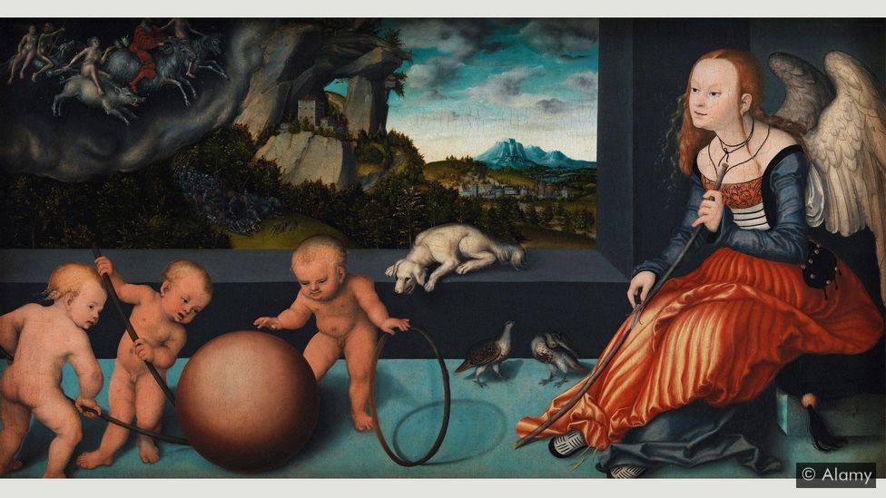 Many elements in Dürer's engraving reappear in Melancholy (1532), a painting by Lucas Cranach the Elder (Credit: Alamy)
