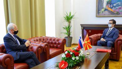 Photo of Пендаровски ги прими акредитивните писма на новоименуваниот амбасадор на Словенија, Милан Предан