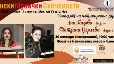 Photo of Концерт на четирирачно дуо на пијано