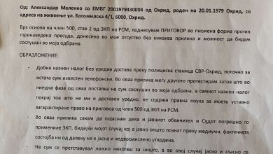 Photo of ПФСМ со демант дека Маленко добил условна казна затвор