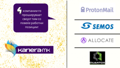 Photo of Недела на можности за кариера за оние кои имаат познавања од компјутерските технологии. Semos Education, Allocate, ProtonMail и Quantox ги прошируваат своите тимови!