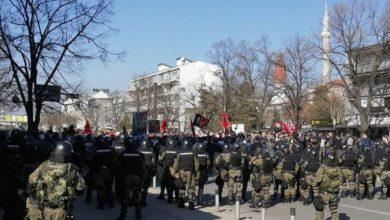 """Photo of (ВИДЕО) 360Степени: Тензии на протестот за случајот """"Монструм"""", има повредени"""