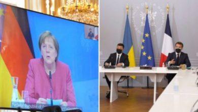 Photo of Меркел, Макрон и Зеленски повикаа на повлекување на руските трупи од границата со Украина