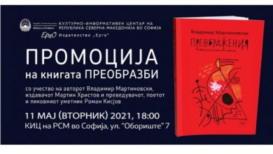 """Photo of Промоција на """"Преобразби"""" во македонскиот КИЦ во Софија"""