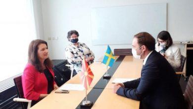 Photo of Ан Линде во Скопје на разговори со Заев и Османи за ОБСЕ и за ЕУ