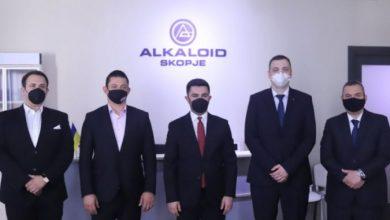 """Photo of Бектеши, Мојсовски и Тасев ја посетија подружницата на """"Алкалоид"""" во Киев"""