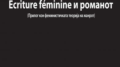 """Photo of Објавена """"Ecriture feminine и романот: прилог кон феминистичката теорија на жанрот"""" на Марина Мијаковска"""