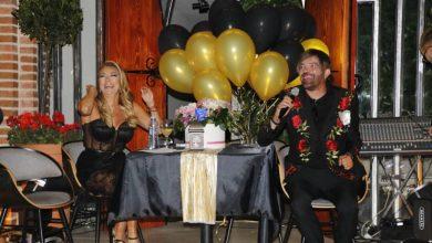 """Photo of Во црно – златен холивудски стил: Лила и Филип ја промовираа """"Тешко мене со тебе"""""""