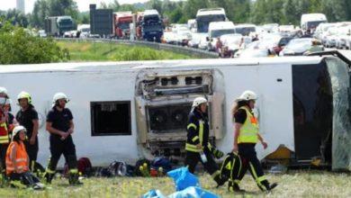 Photo of (Видео) 19 повредени , Автобус кој тргнал од Белград кон Стокхолм се преврте во Германија