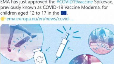Photo of ЕМА ја препорача вакцината на Модерна за деца од 12 до 17 години