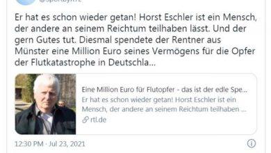 Photo of Германец даруваше милион евра за настраданите во поплавите