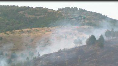 Photo of (ВИДЕО) Пожарот кај Кочани ставен под контрола, но не е локализиран. Kуќите не се во опасност