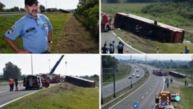 Photo of ( Видео) Заспал на волан- Приведен возачот на автобусот кој излета од патот во Хрватска