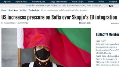 """Photo of """"Еурактив"""": Вашингтон го зголемува притисокот врз Софија за евроинтеграција на Скопје"""