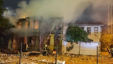 Photo of (Фото +Видео): Пожар избувна во стар објект во адвокатската улица во Скопје